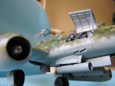 田宮Me262A-1-a.ガンベイ