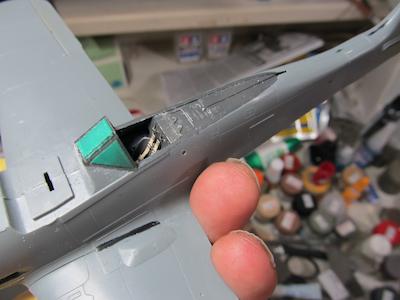 田宮模型Fw190D9コクピット周辺