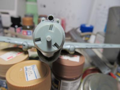 P40B機首機銃開口②