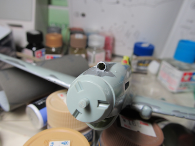 P40B機首エアーインテーク修正①